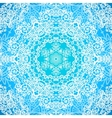 Ornate blue doodle seamless pattern vector image vector image