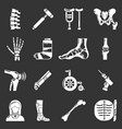 orthopedist bone tools icons set grey vector image vector image