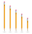 Pencils various length vector image vector image