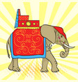 pop art background elephant in india a sacred vector image vector image
