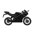 racing motorcycleextreme sport single icon in vector image vector image