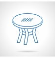 Round table blue flat line icon vector image vector image
