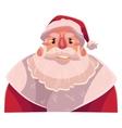 Santa Claus face upset confused facial vector image