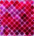 seamless pink pattern of squares vector image
