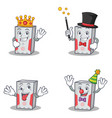 set of computer character with king magician crazy vector image vector image