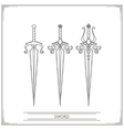 Spiky Fantasy Sword Lineart vector image vector image