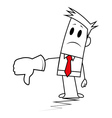 Square guy-Thumbs down vector image vector image