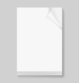 Stack of blank paper sheets vector image vector image