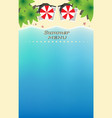 summer menu template with paradise beach top vector image
