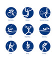 summer sports icons vector image