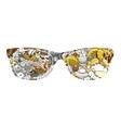 summer sunglasses design vector image vector image