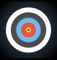 target for archery on dark background vector image