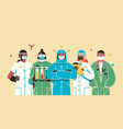 thank you doctors and nurses working vector image