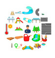 traversal icons set cartoon style vector image vector image