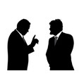 two businessmen talking vector image vector image