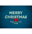 Vintage Merry Christmas card with scratches vector image vector image
