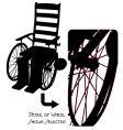 vintage wheelchair vector image vector image