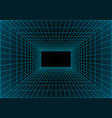 virtual reality building inside structure vector image vector image