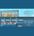 warehouse service modern storage space for rent vector image vector image
