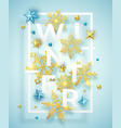 winter background with shining snowflakes balls vector image vector image