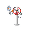 with megaphone no honking isolatede with the vector image vector image