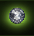 zcash metal coin vector image vector image