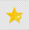star icon eye icon vector image
