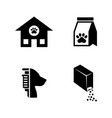 animal shelter simple related icons vector image vector image