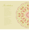 Beautiful pink arabesque lace pattern background vector image vector image