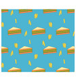 beautiful seamless fast food sandwich background vector image vector image