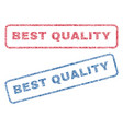 best quality textile stamps vector image vector image