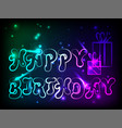 birthday postcard with birthday greetings with vector image