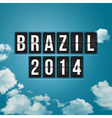 Brazil 2014 football poster Sky background and vector image vector image