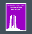 canadian national vimy memorial vimy france vector image vector image
