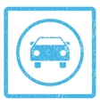 Car Icon Rubber Stamp vector image vector image