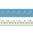 childrens pattern of flowers vector image