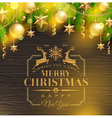 Christmas holidays greeting emblem and decor vector image vector image