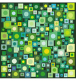 circle square collection in many green yellow vector image vector image