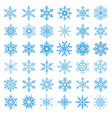 collection of 36 snowflakes vector image vector image