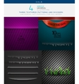 Collection of various textures and dividers vector image