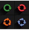 Color arrow loop refresh reload rotation icon vector image