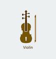 colored violin icon silhouette icon vector image