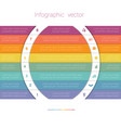 colorful strips and white semicircles for text 8 vector image vector image
