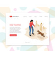 cynologist concept isometric design vector image vector image