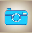 digital photo camera sign sky blue icon vector image vector image