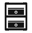 double sharpener icon simple style vector image vector image