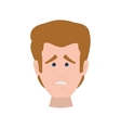 face man angry expression cartoon icon vector image vector image