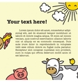 Farm animals frame for book vector image vector image