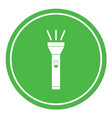 flashlight icon isolated vector image vector image