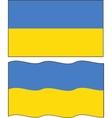 Flat and waving Ukrainian Flag vector image vector image